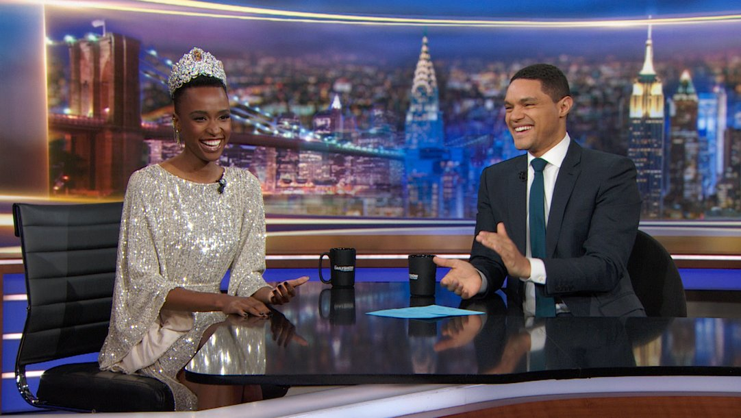 Trevor Noah Interviews Zozibini Tunzi On 'The Daily Show'