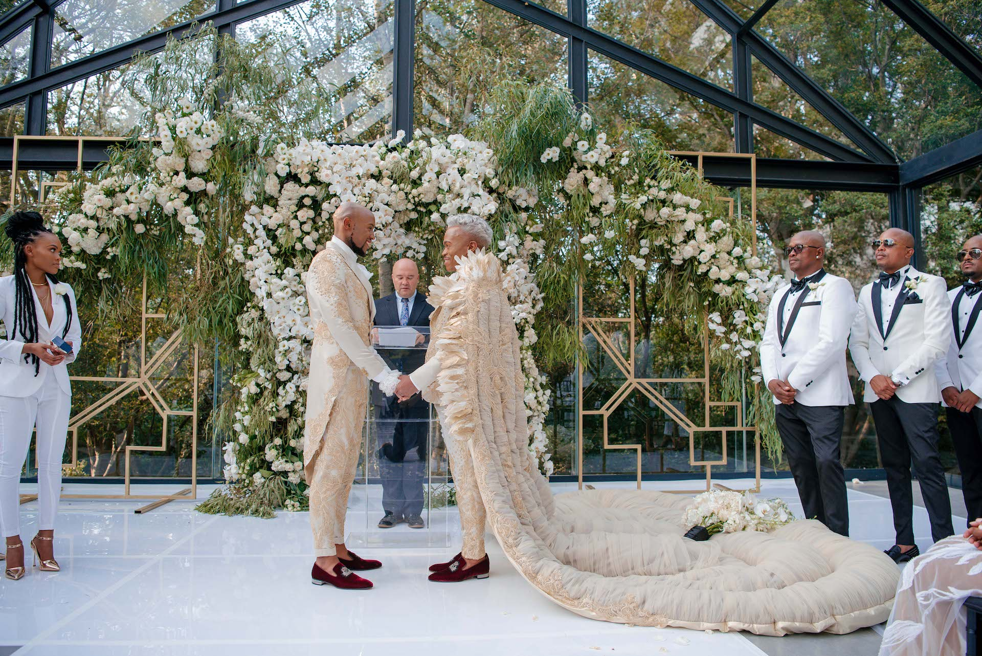 A Wedding Cake Hanging From The Ceiling? What Else Would You Expect From Somizi And Mohale?