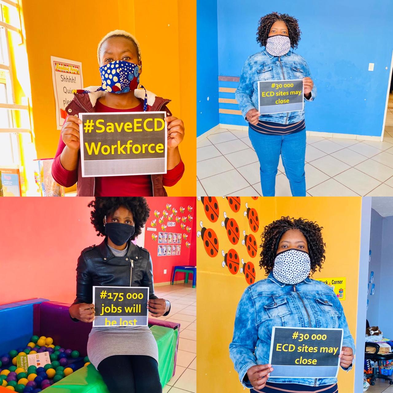 National Week of Protest To Save ECD Workforce In SA Kicked Off, Monday 17 August 2020
