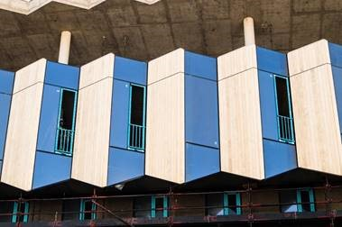 Timber Facade Rises From Sustainability Ethos